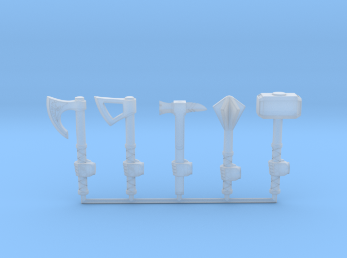 Miniature Weapon Collection (left hand) 3d printed