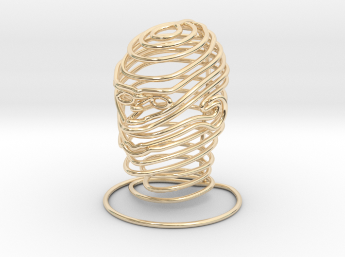 Wired Human Face Extra SMALL 3d printed