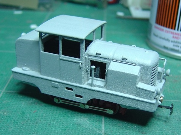 Locotracteur X HOm/HOe 1:87 3d printed Primed model with added details for handrails/lights etc. ( Printed in WSF)