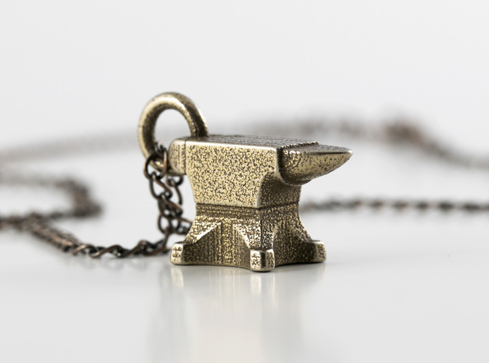 Anvil Necklace 3d printed