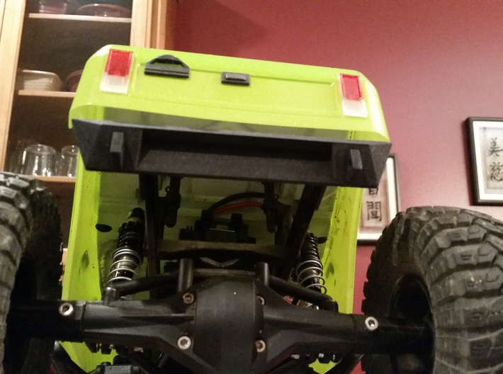 SCX10 Rear Bumper for Dovetail Bodies 3d printed