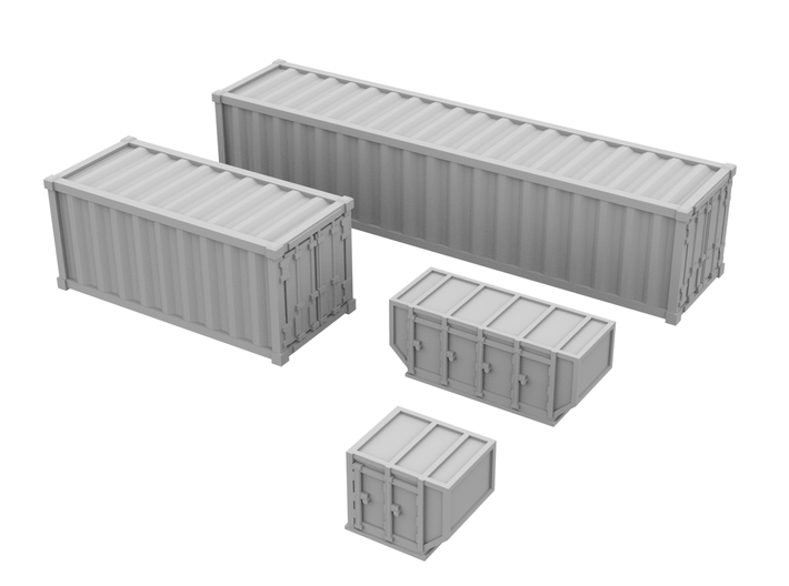 1:400_Containers [x40][A] 3d printed