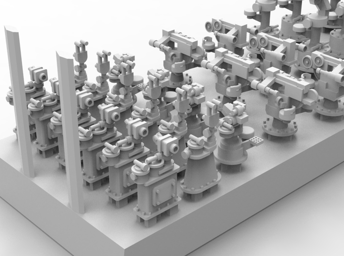 1/700 IJN Optical Tracking and Controling Units 3d printed
