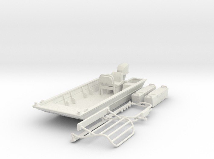 Flat Bottom Boat 01.  1:64 Scale 3d printed