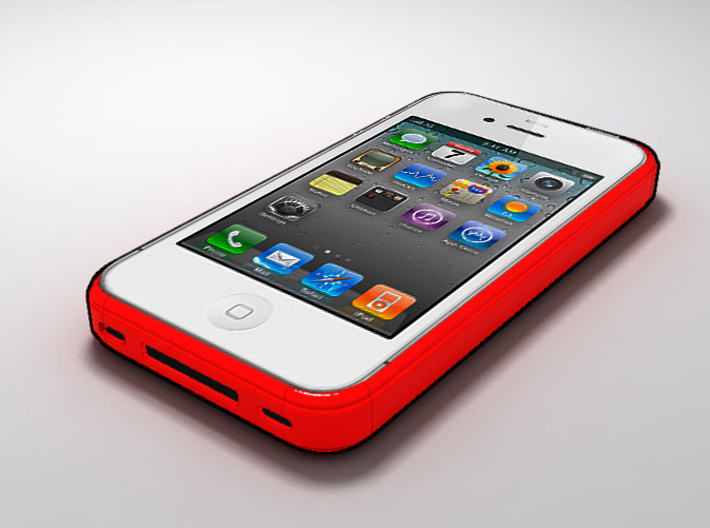 iphone 4 case v1 3d printed