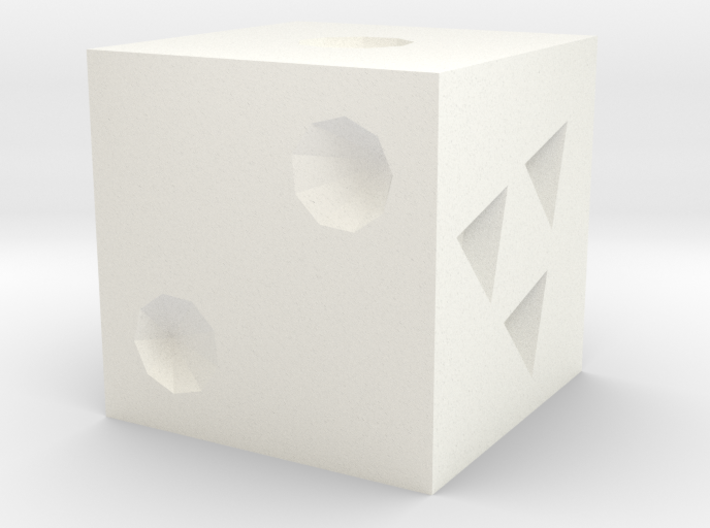 White 3d printed