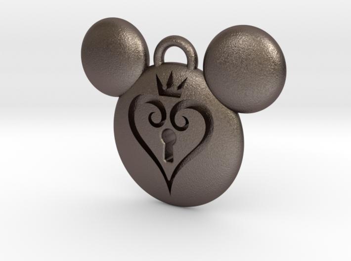 Kingdom Hearts Keychain (with keyhole) 3d printed