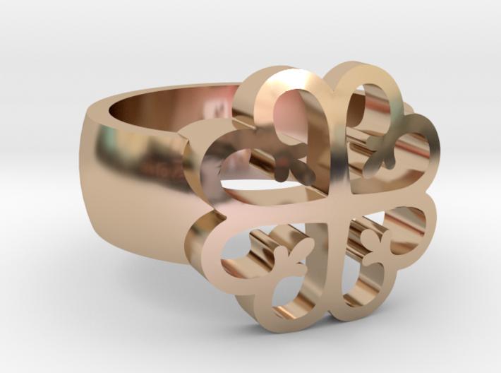 Adinkra Rings - Series 2: Nyame Dua 3d printed