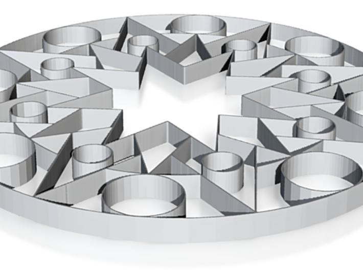 Mandala Shapes - 2 inch 3d printed