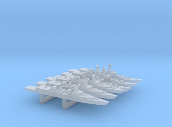 INS Indigenous Destroyers Set, 6 pc, 1/6000 3d printed
