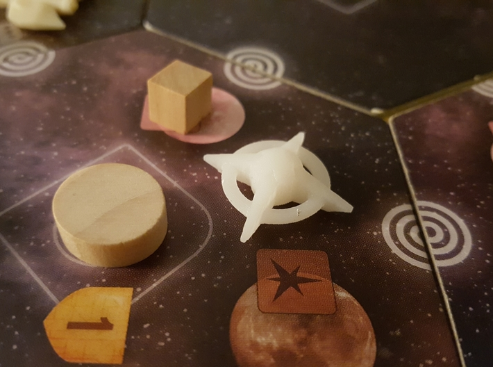 Terran Starbases - Pack of 4 (Connected) 3d printed
