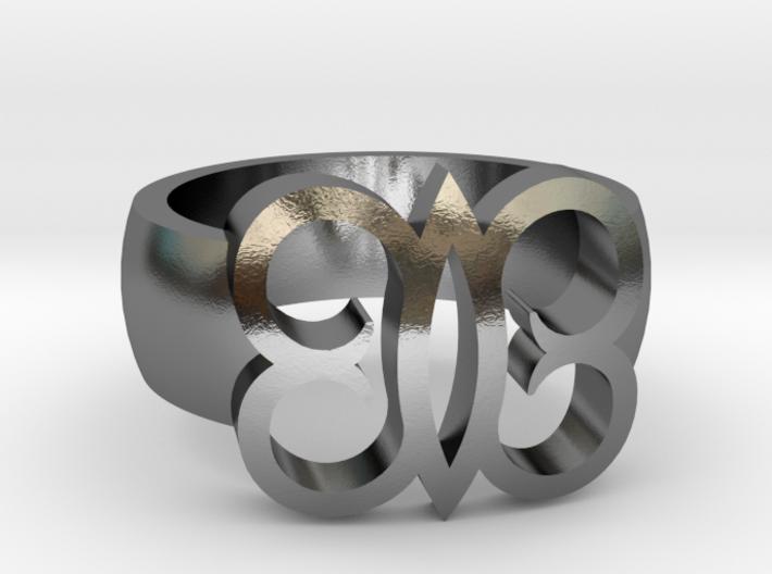 Adinkra Rings - Series 2: Hye Wo Ho Nhye 3d printed
