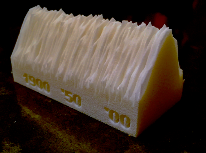 Central Park NYC Temperature since 1869 3d printed
