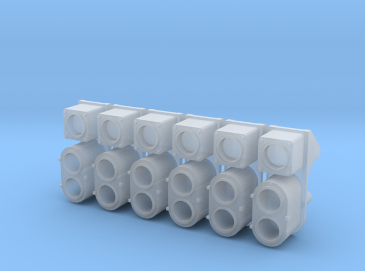 SP Early Cluster, Square UDE (N - 1:160) 6X 3d printed