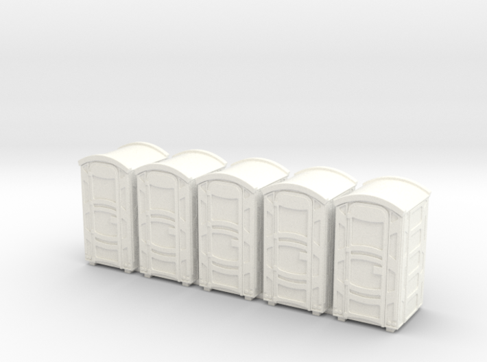 Portable Toilet 01. HO Scale (1:87) 3d printed