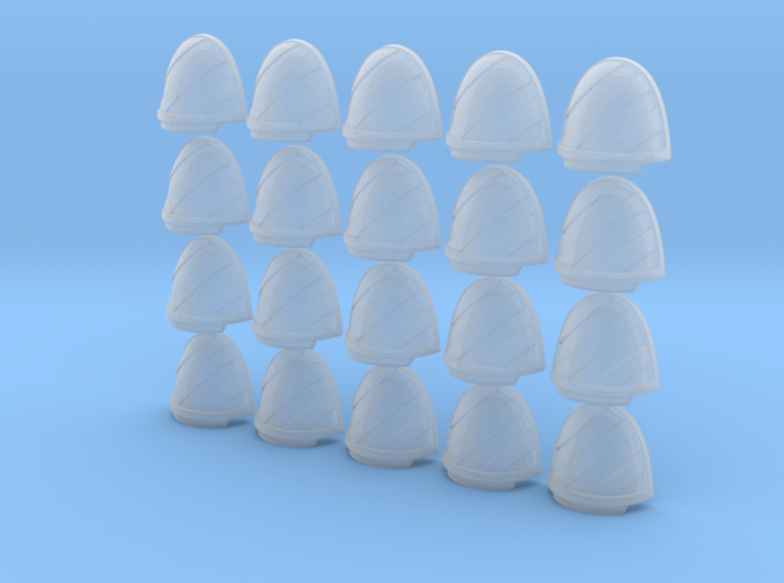 Chevron Left - 20, 28mm Shoulder Pads 3d printed