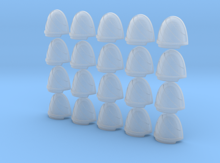Chevron Right - 20, 28mm Shoulder Pads 3d printed