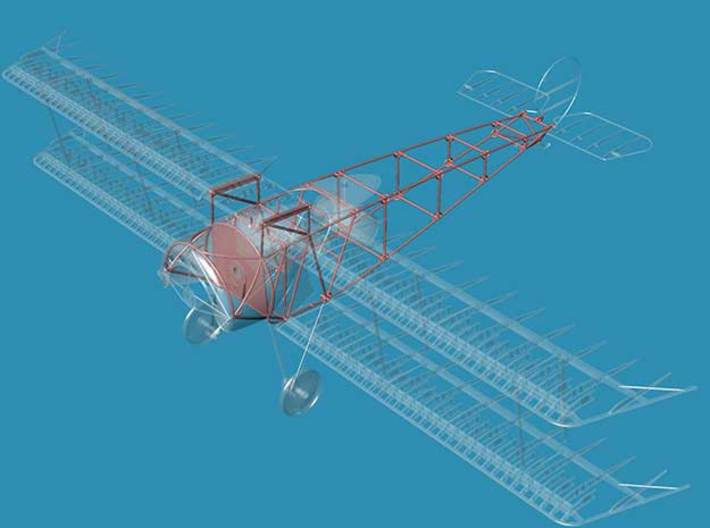 Fokker D.III Fuselage Early 1/32 3d printed includes part shown in red only