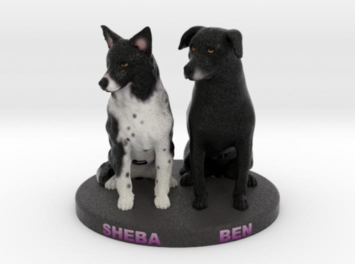 Custom Dog Figurine - Sheba and Ben 3d printed