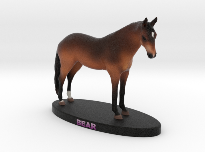 Custom Horse Figurine - Bear 3d printed