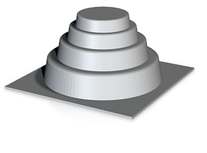 DRAW mold master - terraced dome 3d printed