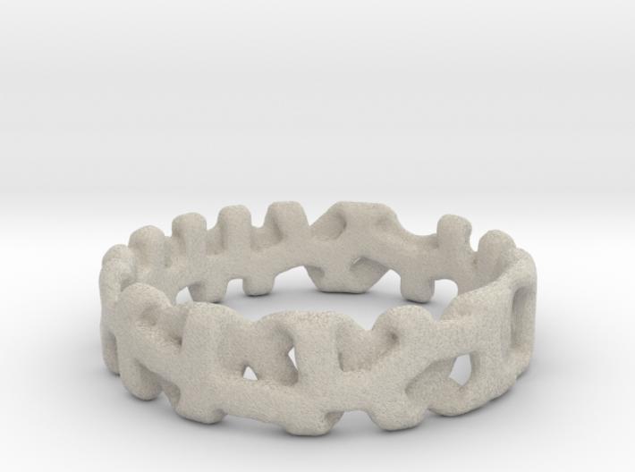 Voronoi 1 Design Ring Ø 19 mm/Ø 0.748 inch 3d printed