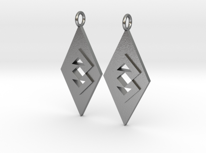 Triangle Earrings (Large) 3d printed