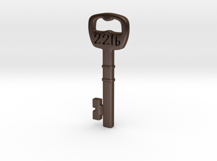 221b Door Key - keychain/pendant 3d printed