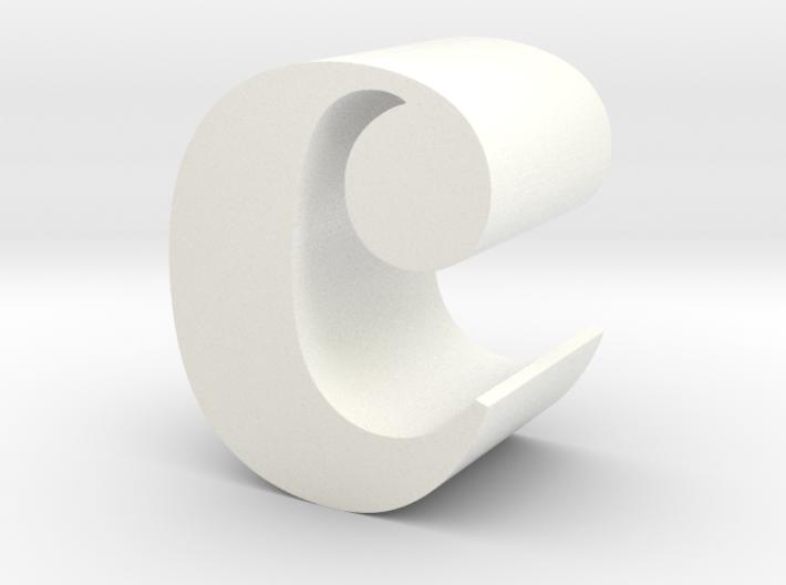 Lowercase C 3d printed
