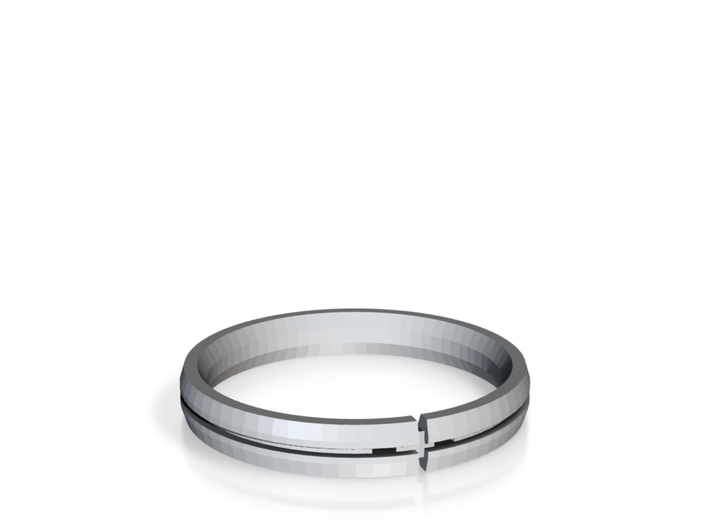 Candice Wedding Ring Final Gold Edition 3d printed