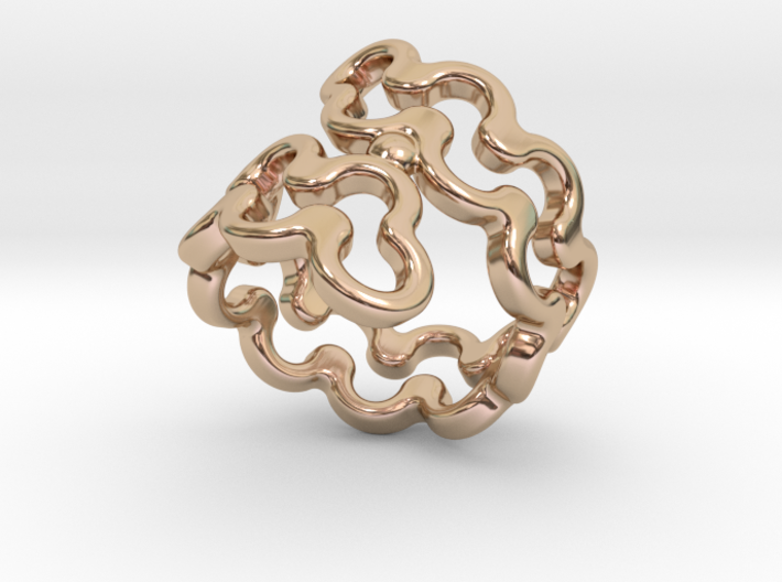 Jagged Ring 21 - Italian Size 21 3d printed