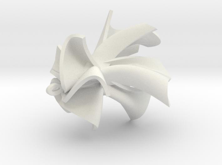 Ribbon Wave Earrings 3d printed