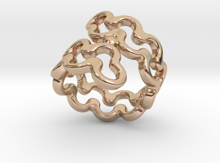 Jagged Ring 27 - Italian Size 27 3d printed