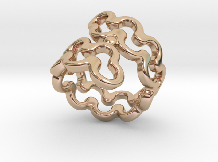 Jagged Ring 29 - Italian Size 29 3d printed