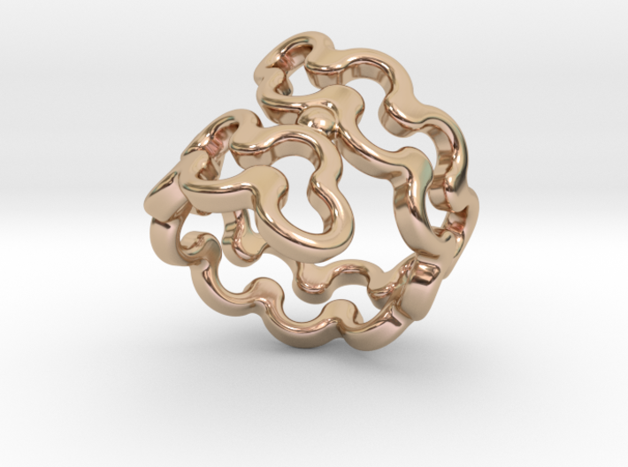 Jagged Ring 31 - Italian Size 31 3d printed