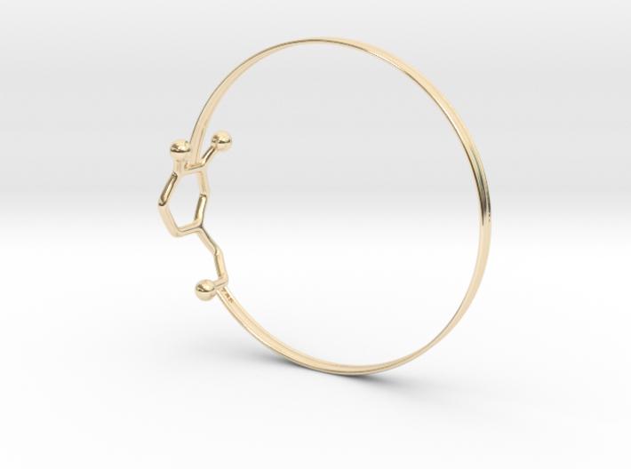 Dopamine Bangle Bracelet: Large: 75mm diameter 3d printed