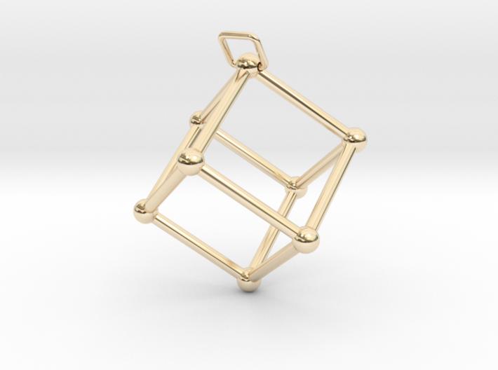 Thetaedron Pendant 3d printed