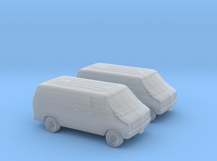 1/148 1976 Dodge Van 3d printed