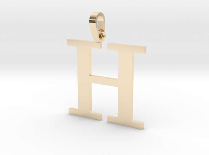 H Letter Pendant Small 3d printed