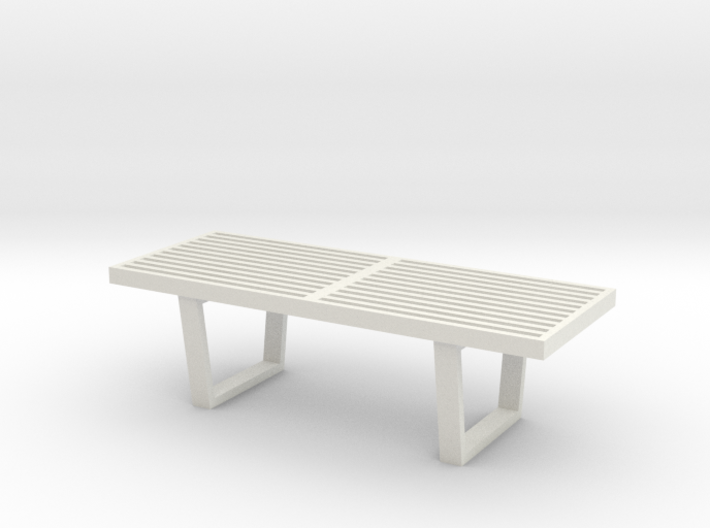 """1:24 Nelson Bench 48"""" 3d printed"""