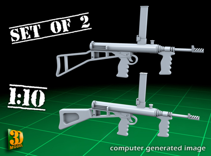 Owen submachine gun (1:10) 3d printed Owen submachine gun 1:10