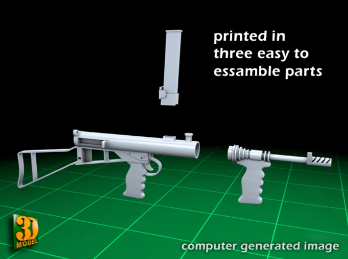 Owen submachine gun (1:10) 3d printed Owen submachine gun 1:10 - printed in three pieces