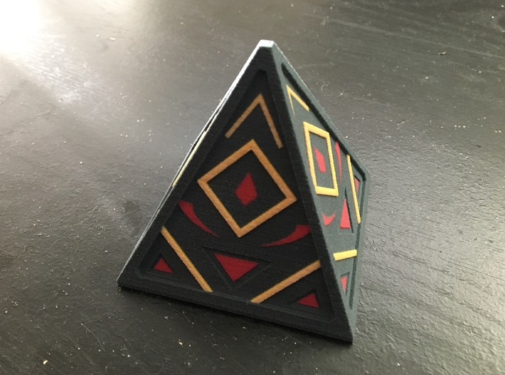 Sith Holocron 3 (full color) 3d printed Full Color Sandstone