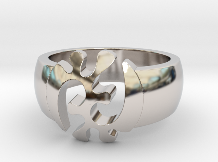 Adinkra Rings - Series 1: GyeNyame 3d printed