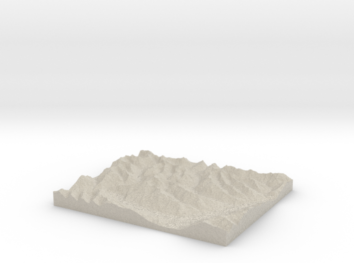 Model of Mount Broome 3d printed