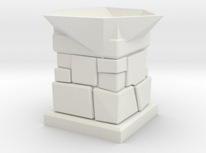 D20 Die Holder (Stone Tower) 3d printed