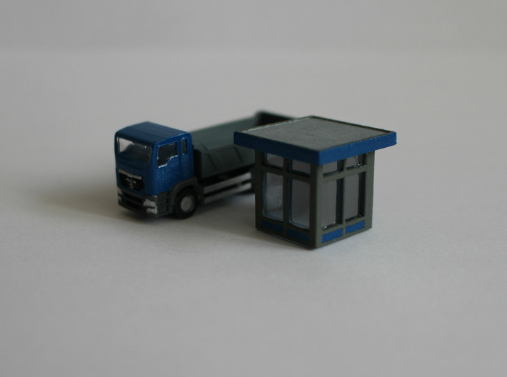 N Scale MAN TGS Dump Truck 3d printed Truck with Microscale Kristal Klear windows