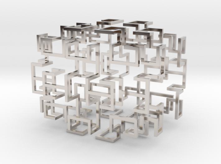 Gosper Pendant Web 3d printed