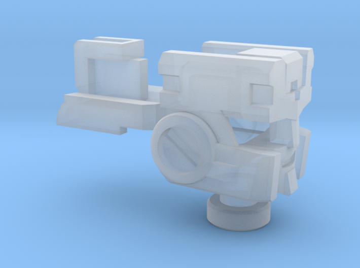 Deceptive Hustler Head for Energon Strongarm 3d printed