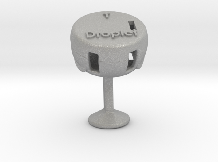 Droplet Cufflink (Single) 3d printed